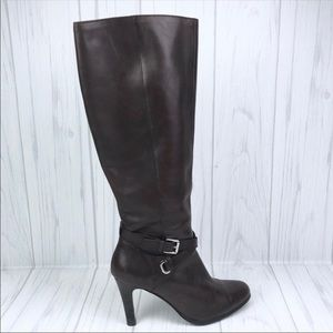 LAUREN Ralph Lauren Brown Leather High BECCA Boots